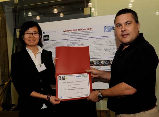 Nanoscape team wins 3rd prize in CSAW 2010 competition